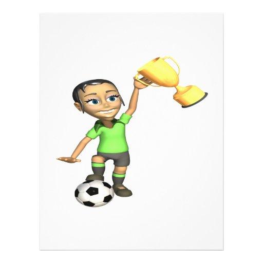 Female Soccer Champion Custom Flyer