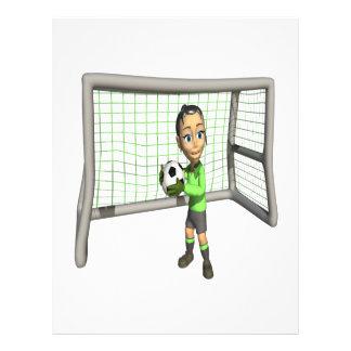 Female Soccer Goalie Custom Flyer