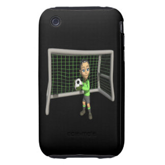 Female Soccer Goalie iPhone 3 Tough Covers