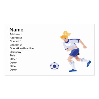 Female Soccer Player Business Card