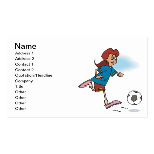 Female Soccer Player Business Cards