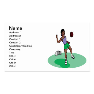 Female Soccer Player Business Card Templates