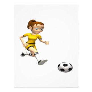 Female Soccer Player Custom Flyer