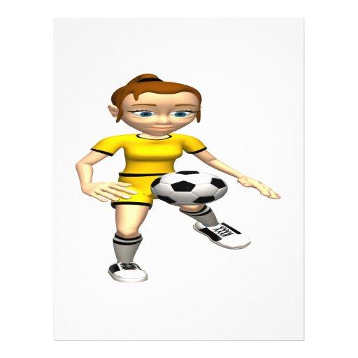 Female Soccer Player Flyer