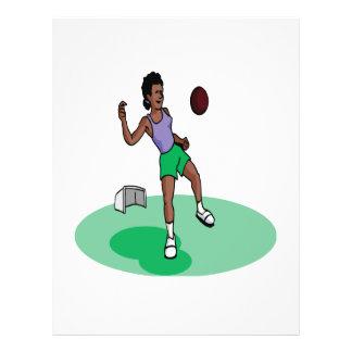 Female Soccer Player Full Color Flyer