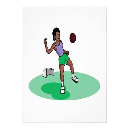 Female Soccer Player Personalized Announcements