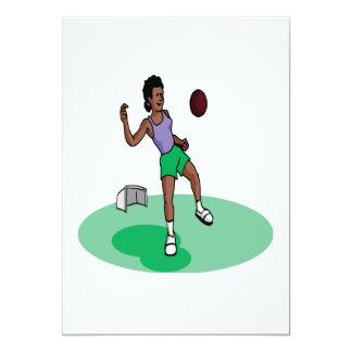 Female Soccer Player 13 Cm X 18 Cm Invitation Card