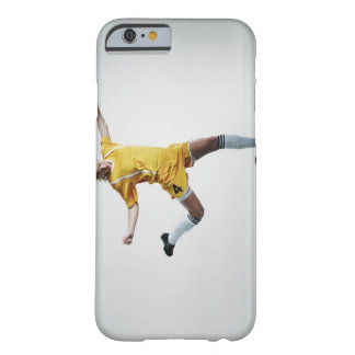 Female soccer player preparing to kick soccer barely there iPhone 6 case