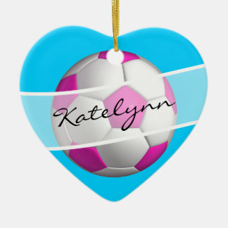 Female Soccer Player's Christmas Tree Ornament