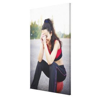 Female sports canvas print