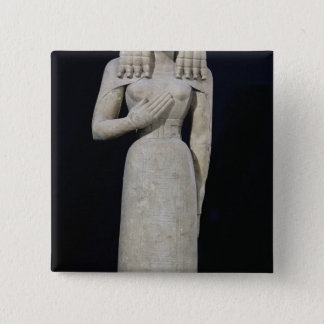 Female statue, known as the Auxerre Goddess 15 Cm Square Badge
