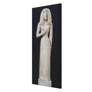 Female statue, known as the Auxerre Goddess Canvas Print
