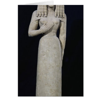 Female statue, known as the Auxerre Goddess Card