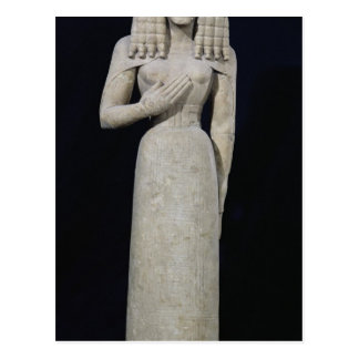 Female statue, known as the Auxerre Goddess Postcard