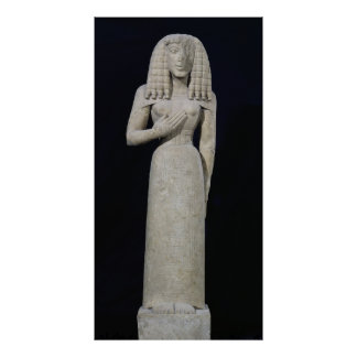 Female statue, known as the Auxerre Goddess Poster