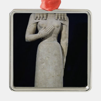 Female statue, known as the Auxerre Goddess Silver-Colored Square Decoration