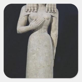Female statue, known as the Auxerre Goddess Square Sticker