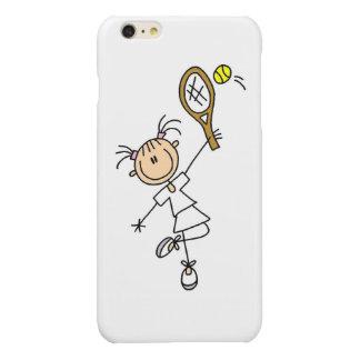Female Stick Figure Tennis Player iPhone 6 Plus Case