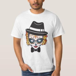 Female Sugar Skull Hipster T-Shirt