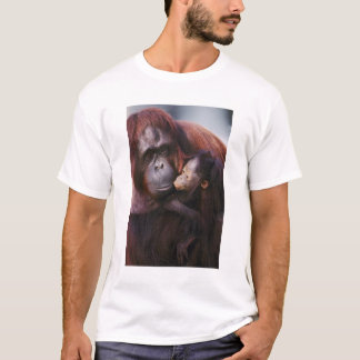 Female Sumatran Orangutan with baby, Pongo T-Shirt