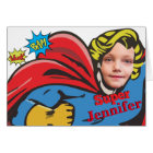 Female Superhero Children's Custom Birthday Card