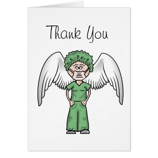 Female Surgical Nurse Thank You Card