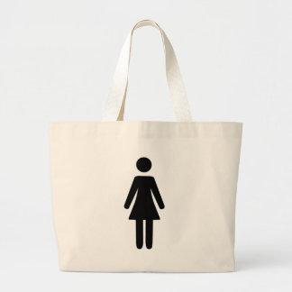 Female Symbol Jumbo Tote Bag