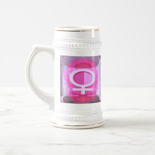 Female Symbol - Ladies are from Venus Beer Stein