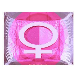 Female Symbol - Ladies are from Venus Postcard