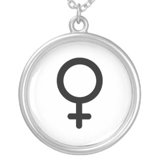 FEMALE SYMBOL -.png Personalized Necklace