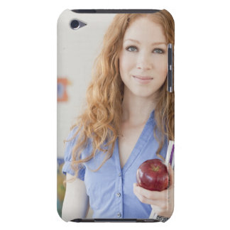 Female teacher at school iPod touch cases