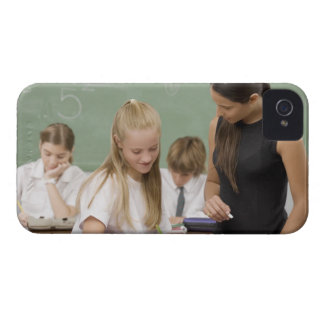 Female teacher teaching a schoolgirl with other iPhone 4 cases