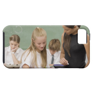 Female teacher teaching a schoolgirl with other tough iPhone 5 case