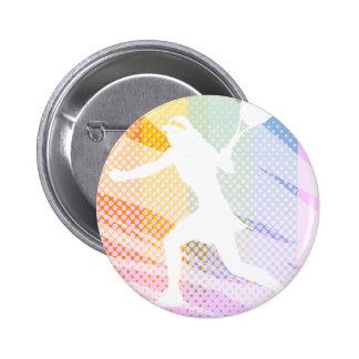 Female tennis player butt on 6 cm round badge