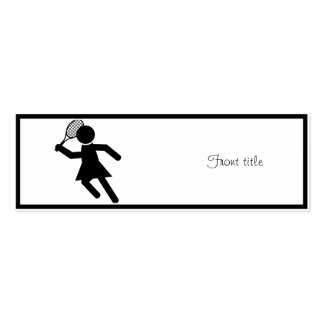 Female Tennis Player - Tennis Symbol Business Card