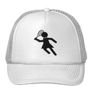 Female Tennis Player - Tennis Symbol Mesh Hats