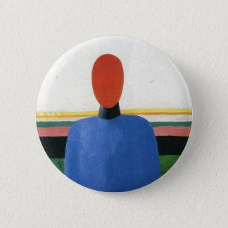 Female Torso by Kazimir Malevich 6 Cm Round Badge