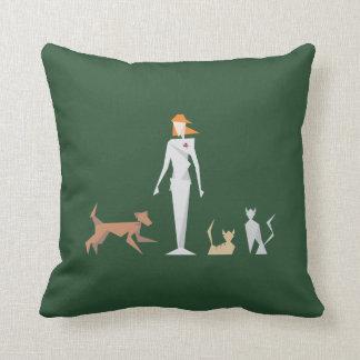 Female Veterinary Geometric Theme Cushion