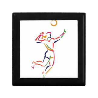 Female Volleyball Player Small Square Gift Box