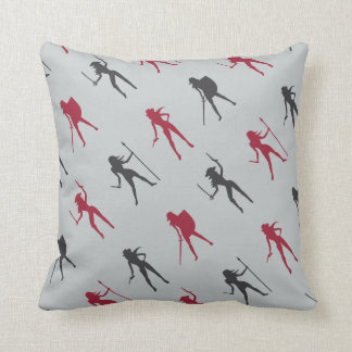 Female Warriors Pattern Throw Pillow Cushion