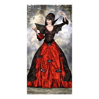 Female Wizard Personalized Photo Card