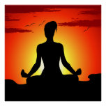 Female Yoga Meditating XL Poster