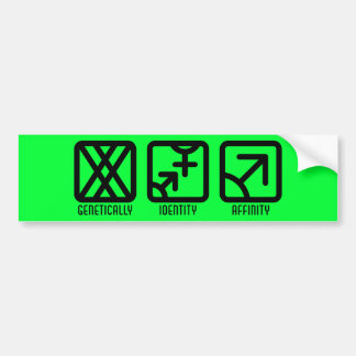 FemaleBoth to Male Light Bumper Sticker