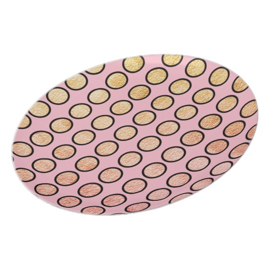 FEMININ-PINK-GOLD-FOIL-DOTS-PLATE-Stylish-Everyday Plate