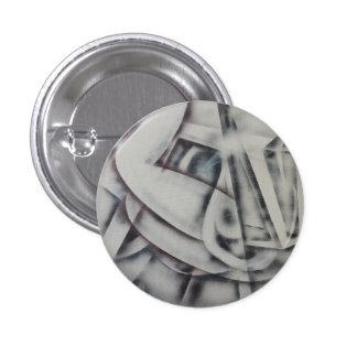 Feminina Black and White Abstract 3 Cm Round Badge