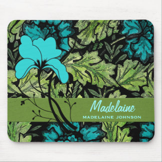 Feminine and Colorful Vintage Floral Custom Mouse Pad