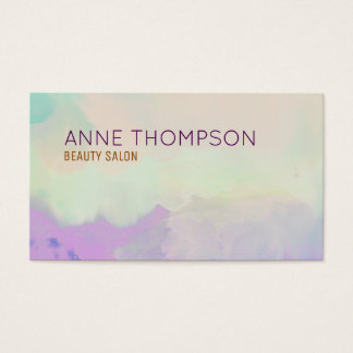 feminine & beauty watercolor professional business card