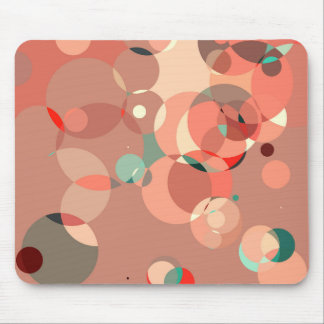 Feminine circles mouse pad