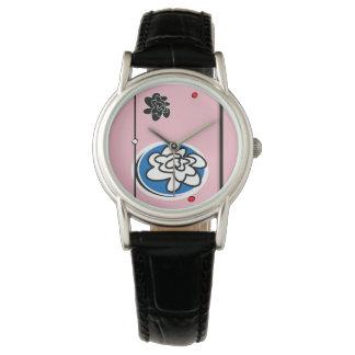 Feminine contemporary flower watch