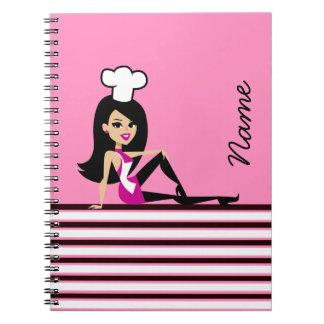 Feminine Cook Girl Notebook
